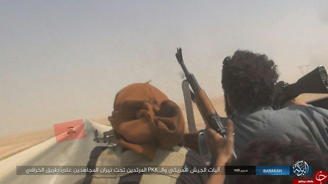 کمین تروریست های داعش برای بمباران خودروهای رهگذر