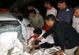 باشگاه خبرنگاران -تصادف شدید سه خودرو در جاده غار علیصدر + تصاویر