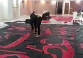 باشگاه خبرنگاران -آماده سازی بزرگترین پرچم عزاداری ابا عبدالله در تهرانسر + فیلم