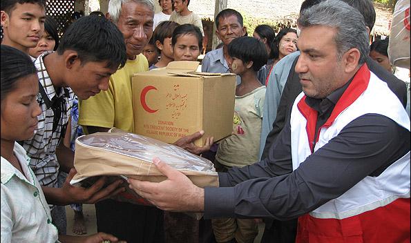 هلال احمر ایران تنها جمعیت فعال در میانمار