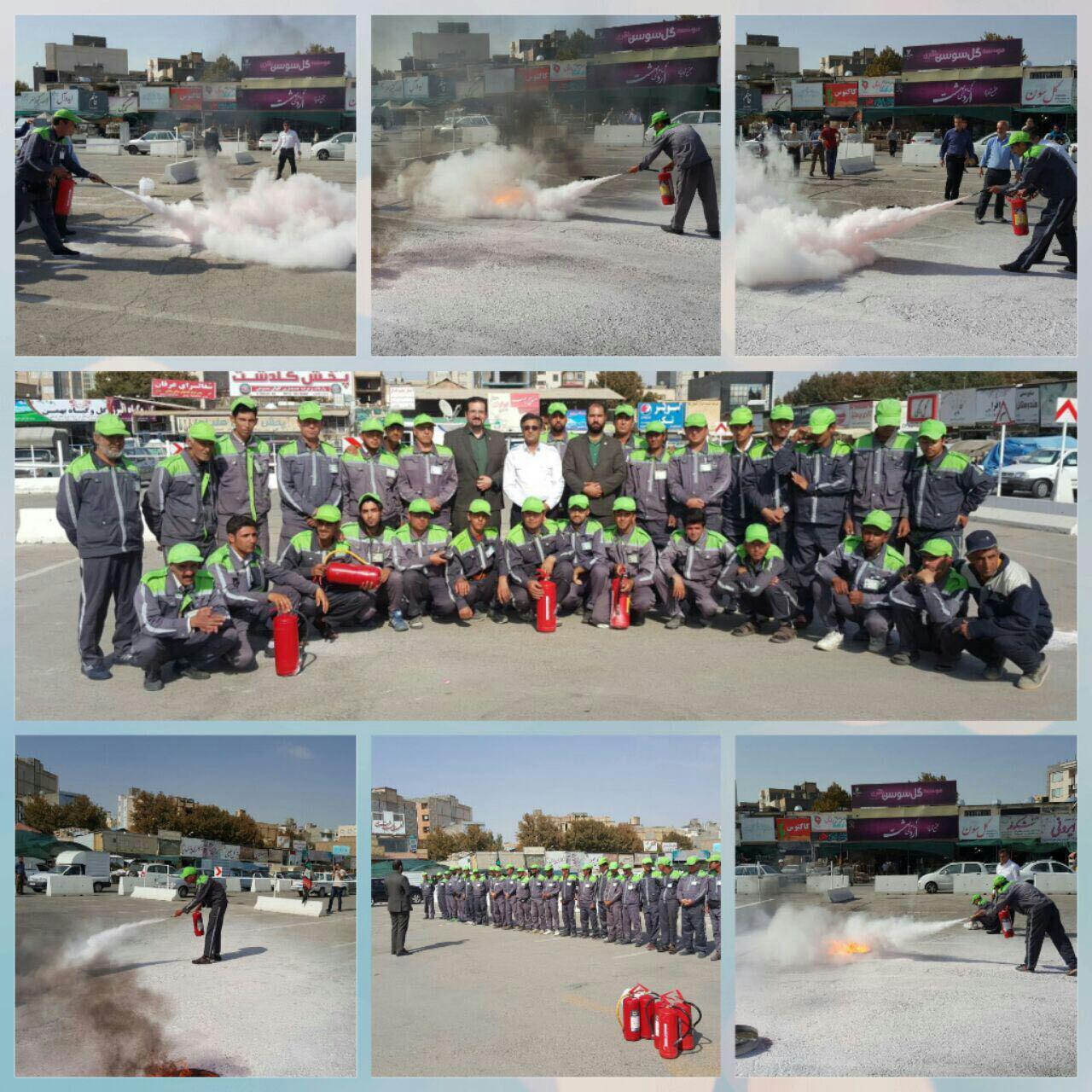 متصدیان فروش گل در تقاطعهای سطح شهرمشهد همیار آتشنشان شدند