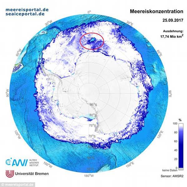 حفره ای شگفت انگیز در قطب جنوب+عکس