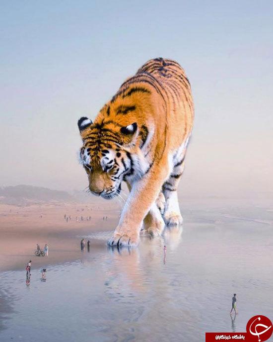 تصاویر هنری شگفت انگیز از حیوانات عظیم الجثه