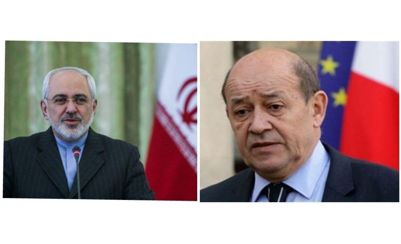تاکید ظریف و وزیر خارجه فرانسه بر لزوم پایبندی همه طرفها به برجام
