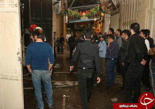 حریق در بازار ریسمان میدان امام علی+ تصاویر