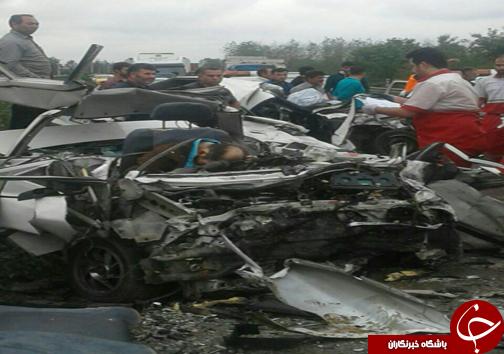تصادف مرگبار در جاده فومن سراوان+ تصاویر