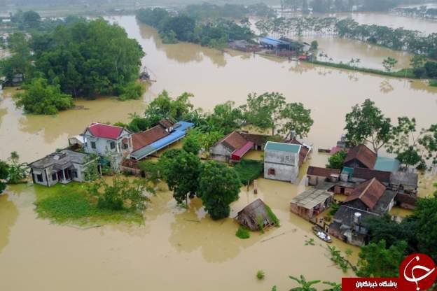 سیل و رانش زمین در ویتنام جان ۵۴ نفر را گرفت+ تصاویر