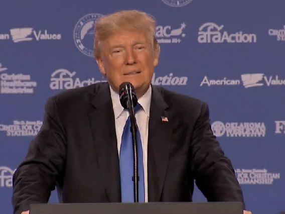 ترامپ: تا ساعاتی دیگر درباره ایران که یکی از کشورهای تروریستی است سخنرانی خواهم کرد