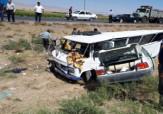 باشگاه خبرنگاران -برخورد پراید با مینی بوس حوالی جاده هلالی -مشهد/24 نفر مجروح شدند