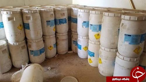 کشف کارگاه ساخت خمپاره های شیمیایی داعش + تصاویر