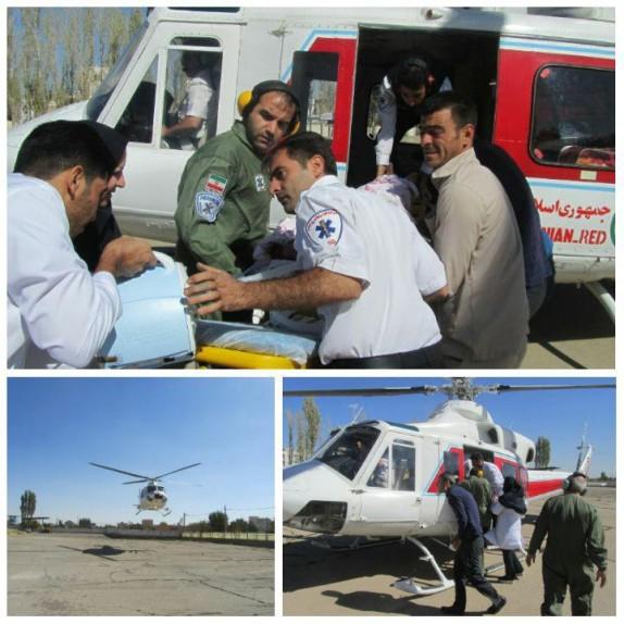 باشگاه خبرنگاران -پرواز بالگرد هوایی برای نجات جان بیمار سکته مغزی