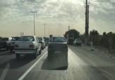 باشگاه خبرنگاران -مشکلات ترافیک در جاده اندیشه - تهران + فیلم