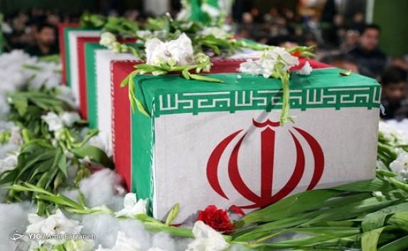 باشگاه خبرنگاران -برگزاری آیین وداع با سه شهید گمنام دفاع مقدس در مهدیشهر