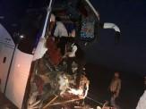 باشگاه خبرنگاران -فوت یک نفر در حادثه برخورد تریلی با اتوبوس در محور بم _ زاهدان