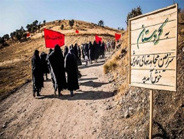 باشگاه خبرنگاران -بازدید دانش آموزان سردرودی از مناطق عملیاتی غرب