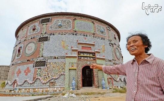 زن چینی که یک کاخ سرامیکی شخصی برای خود ساخت+تصاویر