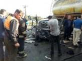 باشگاه خبرنگاران -وقوع تصادف زنجیره ای در جاده لاهیجان _ لنگرود