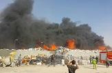 باشگاه خبرنگاران -آتش سوزی در انبار تفکیک و بازیافت زباله
