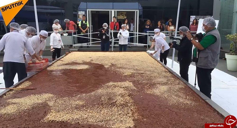 رکورد غول پیکرترین شکلات ۷۰ درصد جهان در گینس+تصاویر