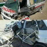 باشگاه خبرنگاران -چهار کشته و مجروح در تصادف پراید با آمبولانس +عکس