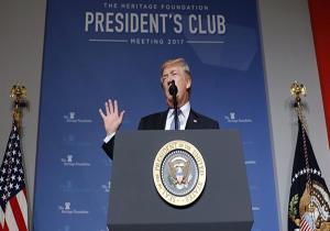 ترامپ: از توافقنامههای بینالمللی یک طرفه خارج میشویم/ راهبردمان را برای تضمین دست نیافتن ایران به سلاح هستهای اعلام کردم