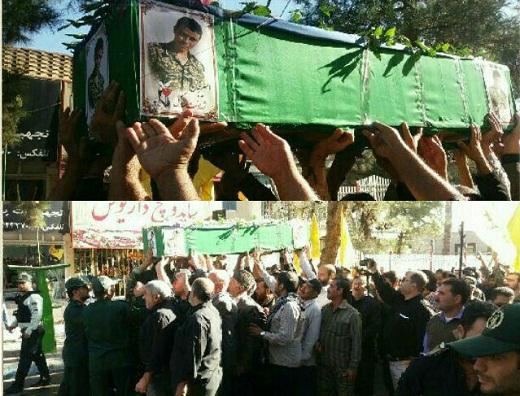 تشییع پیکر شهید مدافع حرم در ساوه + عکس