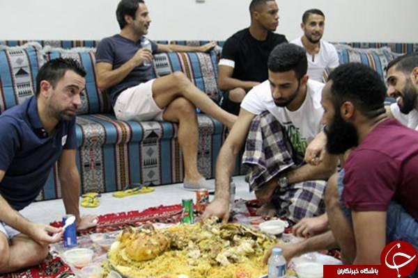 ژاوی و پورعلی گنجی در ضیافت شام بازیکن السد +عکس