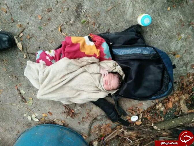 پیدا شدن نوزاد تازه متولد شده در آشغال + تصاویر