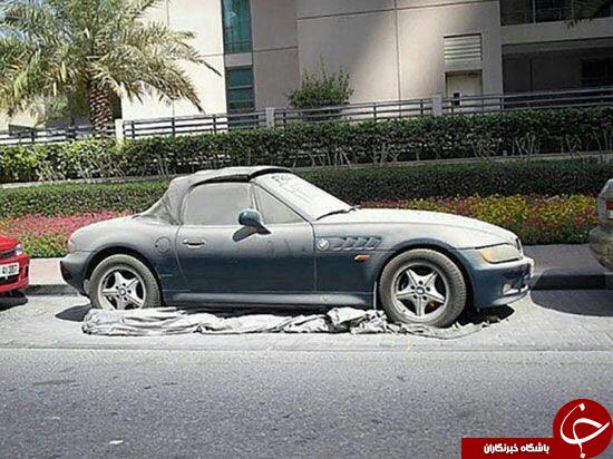 ماشینهای لوکس در دبی رها میشوند! +عکس
