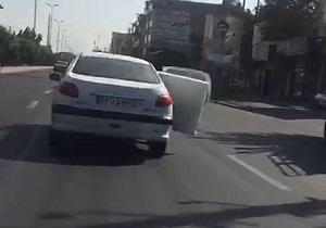 از سرقت از پژو ٢٠٦ با فورد موستانگ گذرموقت در تهران تا برخورد مرگبار زانتیا با پژو در جاده چالوس + فیلم و تصاویر