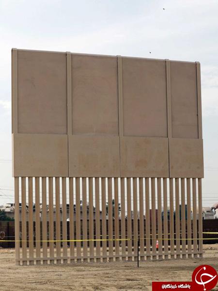تکمیل هشت نمونه از دیوار مرزی مورد نظر ترامپ برای مکزیک+ تصاویر