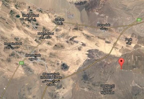 باشگاه خبرنگاران -زرندیه لرزید + تصویر ماهواره ای