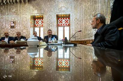 باشگاه خبرنگاران -دیدار معاون اول رئیس دفتر حماس با علی لاریجانی