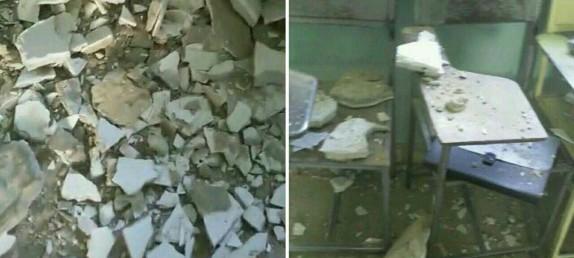 باشگاه خبرنگاران - سقف مدرسه ای در شمس آباد ، قلعه گنج فرو ریخت