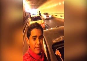 تصادف زنجیره ای خودروهای کاروان عروسی در تونل + فیلم