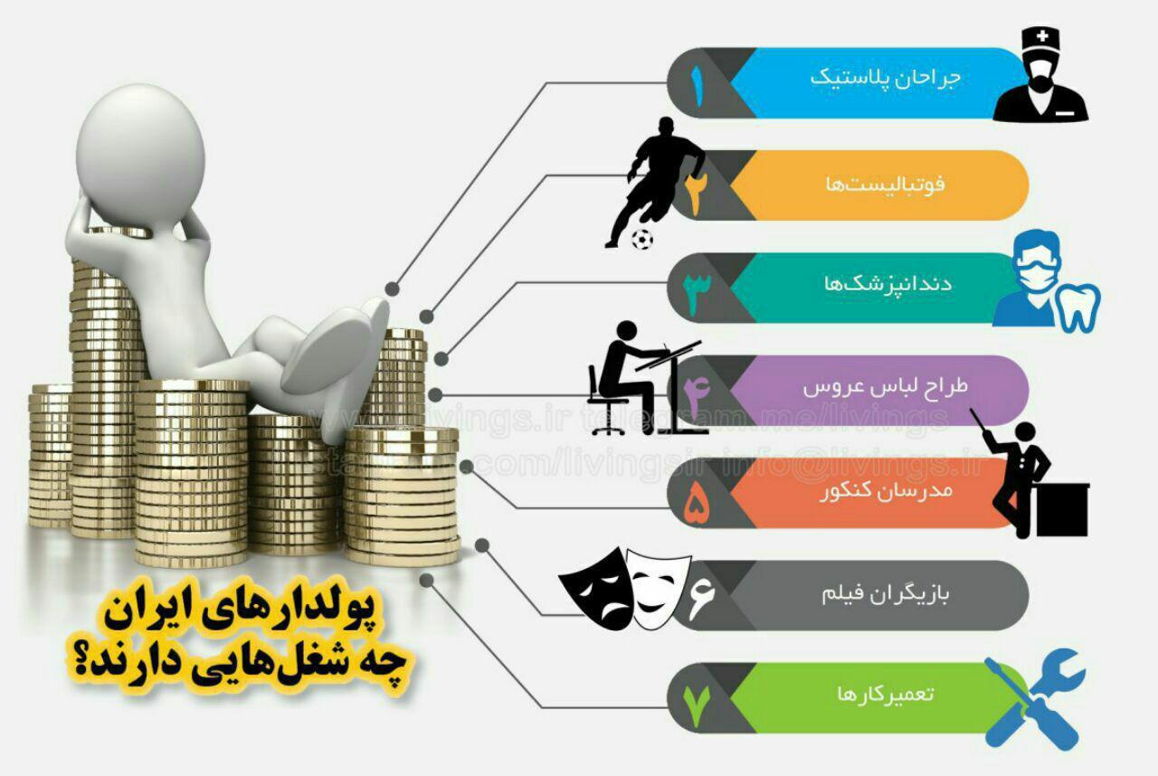 پولدارهای ایران چه شغلهایی دارند؟/اینفوگرافی