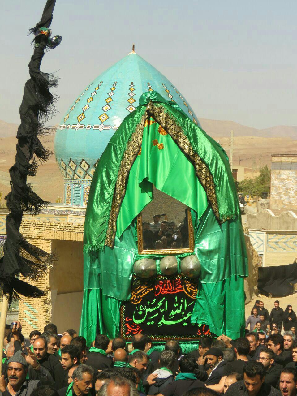 نخل، نماد تشییع حضرت ابوالفضل در روستای سُه / عزاداری دهه اول محرم روستای سُه ،اثری ناملموس
