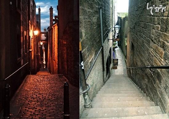 راز بن بستهای فراوان ادینبورگ در اسکاتلند+تصاویر