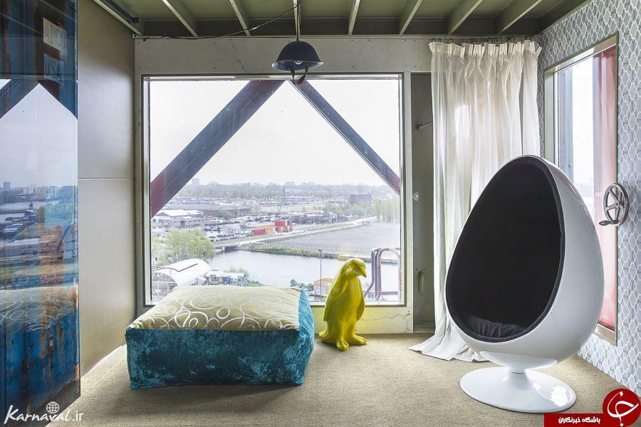 عجیب ترین جای دنیا هتلی ۵ستاره روی یک چرثقیل +تصاویر
