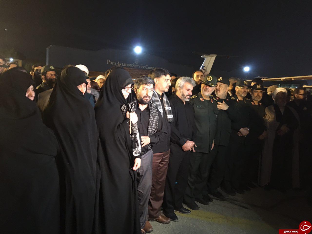 نخستین تصاویر از ورود پیکر مطهر شهید حججی