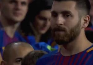 بدل ایرانی لیونل مسی در ورزشگاه نیوکمپ +فیلم