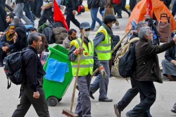 باشگاه خبرنگاران -جارو به دستان پایتخت، راهی کربلا شدند