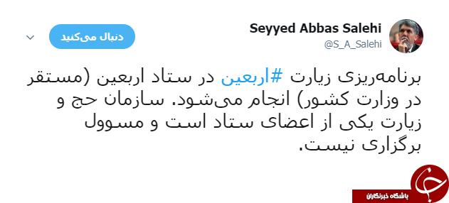 واکنش وزیر ارشاد به گران فروشی ویزای اربعین