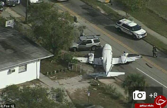 لحظه وحشتناک سقوط هواپیمای کوچک در خیابانی شلوغ در آمریکا + فیلم