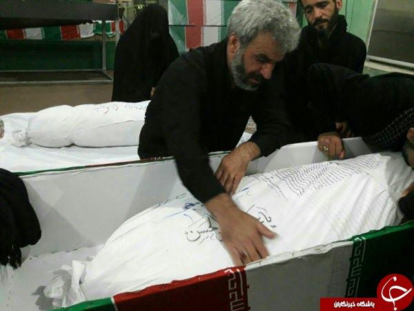اولین تصاویری از پیکر پاسدار شهید حججی