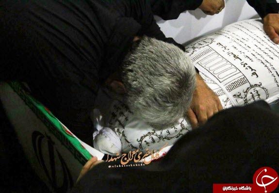 اولین تصاویر از پیکر پاسدار شهید حججی