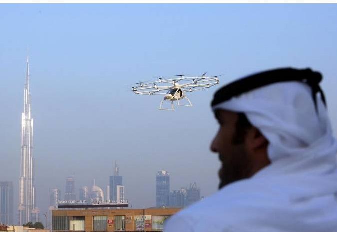 دبی آزمایش تاکسهای هوایی را آغاز کرد