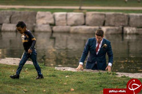 اقدام قهرمانانه یک داماد کانادایی در روز ازدواجش+تصاویر