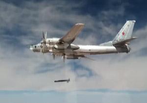 6822190 701 - شلیک موشکهای کروز به مواضع داعش در دیرالزور با هواپیماهای توپولوف + فیلم
