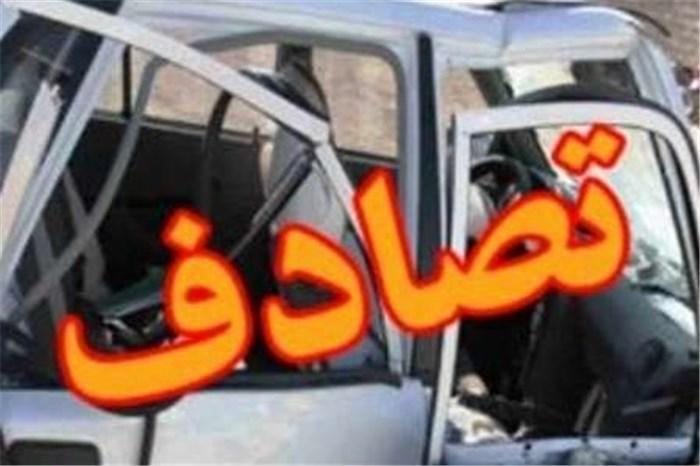برخورد 15 خودرو در اتوبان شهید بابایی به علت نشت گازوئیل